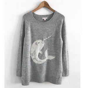 Sweater pullover size L fish knitt